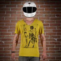 Kalup T-Shirt V-Neck Fanny Žluté - XL